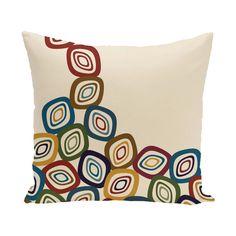 E by Design 26 x 26-inch Falling Leaves Geometric Print Pillow