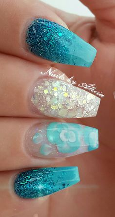 Glow in the dark set in natural lighting with encapsulated 3d flowers