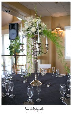 Center Pieces, Lesner Inn Wedding || Amanda Hedgepeth Photography