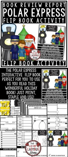 Snowflake Bentley Activity Flip Book Review Template Winter