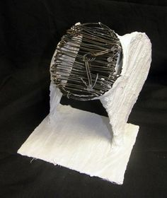 Visual pun in wire and plaster, by Sculpture 1 student