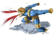 Cyclops Fanart by raultrevino on DeviantArt Marvel Comic Character, Comic Book Characters, Marvel Characters, Comic Books Art, Comic Art, Book Art, Marvel Comics, Marvel Art, Marvel Heroes