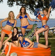 Outfit adults florida gator cheerleader for