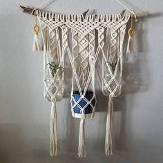"Macrame Plant Hanger  17 Likes, 1 Comments - Kari F. (@macramebykari) on Instagram: ""Custom order plant hanger. I love how it turned out! . . .  #macrame #macramewallhanging…"""