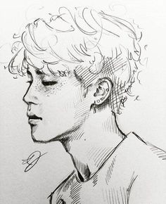 kpop arts ʕ ᴥ ʔ drawing mang 225 meninos bts Jimin Fanart, Kpop Fanart, Kpop Drawings, Pencil Drawings, Drawing Reference, Drawing Sketches, Art Inspo, Character Illustration, Pop Art