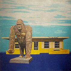 Gorilla Statue-Photo Transfer-Retro Decor-Handmade Art-Small Art-Florida-One of a Kind Art-Square by RetroRamblin on Etsy Photo Transfer, Fine Art Photo, Small Art, Handmade Art, The Incredibles, Statue, Retro, Natural Light, Artist
