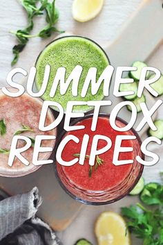 Now that we've shown you how to do the ultimate summer detox, we've got some healthy recipes to help you stay on track, including detox smoothies, snacks, delicious low-fat lunches and easy dinner ideas.