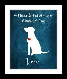 I Love My Dog Custom Pet Gift For Animal Lover: by Printsinspired