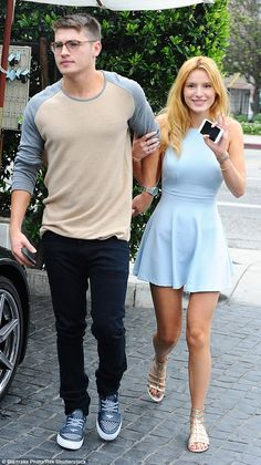 Lunch date! Bella Thorne and her boyfriend Gregg Sulkin enjoyed a lunch date at Cecconi's ...