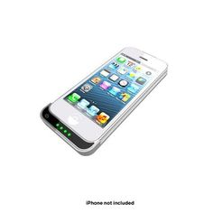Super Slim iPhone® 5 Extended Battery Case 2100mAh - Black or White $32.00 Our Price $79.00 Retail