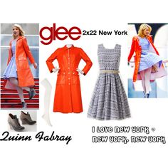"""Quinn Fabray (Glee) : I Love New York / New York, New York"" by aure26 on Polyvore"