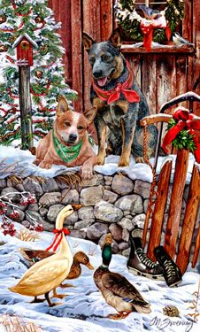 -Australian Cattle Dog - Christmas Goose