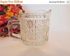 Creamer Sauce Serving Dish Windsor Clear Button by TKSPRINGTHINGS