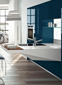 Kitchen, Extraordinary Kitchen Table With Washbowl Smart And Elegant Kitchen For Small Spaces With Gym Room: Optimize Compact Kitchen