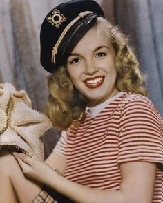 1945 Sailor Girl Norma Jeane by Bruno Bernard, 1945.