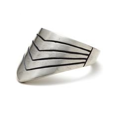 Men's LIne Archer Ring - This Men's Archer Ring can be worn several ways. Traditionally they were worn on a person's thumb with the ring protecting the back of your thumb. But, you can also wear it on any finger pointing up or down in the front of back. by Lulu & Shay Fine Jewelry