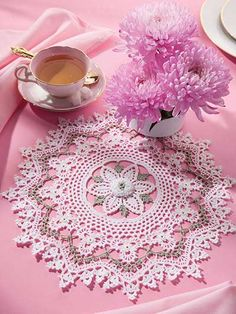Irish Mystique Doily ~ features a variety of exquisite Irish crochet techniques