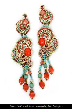 Soutache Embroidered Jewelry by Dori Csengeri