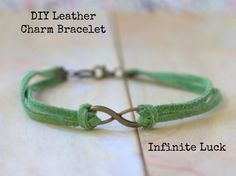 Have you seen all the leather charm bracelets everywhere? They're all the rage. Now, you can make your own, quickly and easily with this DIY tutorial.