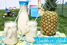 Caribbean Slush with fresh pineapple... perfect for summer!
