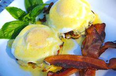 Straw Hat's Scallion Potato Pancake & Poached Eggs