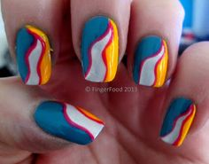 FingerFood: Crumpets Nail Tarts Tri Polish Challenge - April Day 2