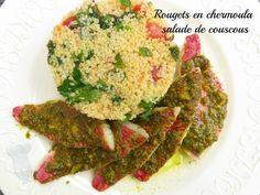 Rougets en chermoula sur salade de couscous