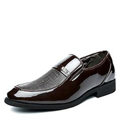 Men's Shoes Pointed Toe Flat Heel Leather Oxfords with Slip-on Shoes More Colors available