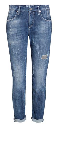 Sexy Carrot Glitter Paint ist eine Loose Fit Jeans aus authentischem Denim. Die leichten Destroyed-Elemente und die glamourösen Strasssteine auf dem linken Oberschenkel sorgen für einen lässigen, aber glänzenden Auftritt.
