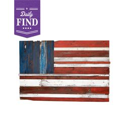 American Flag Painted on Reclaimed Wood.