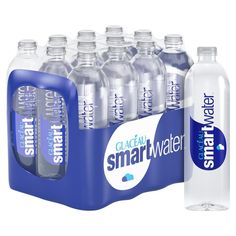 Glaceau Smartwater Natural Mineral Water Bottle Plastic Pack of 12 Water Packaging, Bottle Packaging, Coffee Packaging, Food Packaging, Design Package, Natural Mineral Water, Agua Mineral, Water Company, Water Bottle Design