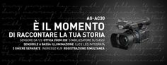 È il momento di raccontare la tua storia con il nuovo camcorder AG-AC30 di Panasonic!  Disponibile da agosto Info: https://www.adcom.it/it/ripresa-registrazione/camcorders-hd-hd-ready/1-3/panasonic-broadcast-ag-ac30/p_n_14_347_2849_38881