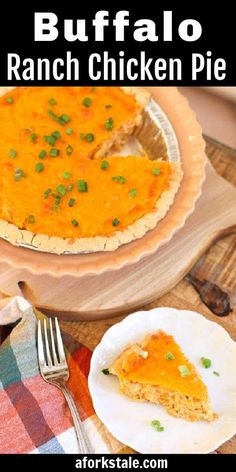 Flavors of traditional buffalo chicken are combined with ranch and cheese in a flaky crust to create a scrumptious buffalo ranch chicken pie. Make it for an easy entree or appetizer. #buffaloranchchicken #chickenpotpie Easy Chicken Pot Pie, Easy Chicken Dinner Recipes, Best Chicken Recipes, Easy Tart Recipes, Egg Recipes, Real Food Recipes, Ranch Chicken, Buffalo Chicken, Brunch Ideas