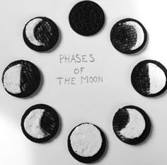:: photography idea :: oreos    :: moon phases ::