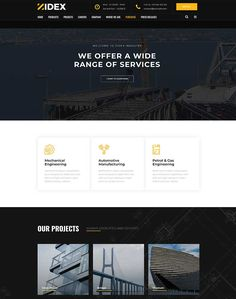 Zidex - Industrial & Factory WordPress Theme - ModelTheme Manufacturing Engineering, Glass House, Wordpress Theme, Industrial, House Of Glass, Industrial Music, Conservatory