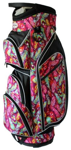 Stand out on the golf course with the bright, vivid patterns of this Native Joy Taboo Fashions Ladies Monaco Lightweight Golf Cart Bag ! Your personality will shine through with a golf bag from #lorisgolfshoppe!