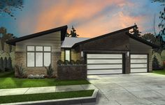 3 Bed Modern Ranch House Plan - 62547DJ | Contemporary, Modern, Ranch, 1st Floor Master Suite, 2nd Floor Master Suite, Butler Walk-in Pantry, CAD Available, PDF, Split Bedrooms | Architectural Designs