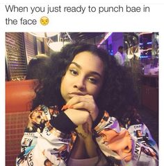 when she's ready to punch you in the face lol ~ QueenV II Funny Cute, Hilarious, Me And Bae, Relationship Memes, Relationships, Lol So True, Queen, Cute Quotes, Real Quotes