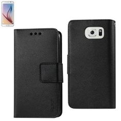 Reiko Wallet Case 3 In 1 For Samsung Galaxy S6 With Black Interior Polymer