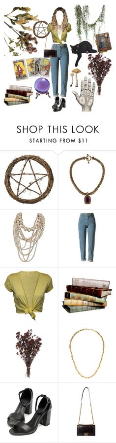 """i swear she's a witch or something"" by forgottenfashions ❤ liked on Polyvore featuring Stephen Dweck, WearAll, Chanel, teen, 90s, witch, nineties and wicca"