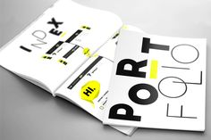 black&yellow portfolio design.