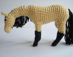 Crochet horse crochet animal amigurumi horse Hayley por Zizidora