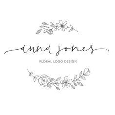 Sewing logo design ideas fonts 40 ideas for 2019 Floral Illustrations, Botanical Illustration, Branding Design, Logo Design, Wreath Drawing, Hand Logo, Floral Logo, Art Graphique, Business Logo