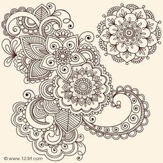 6807572-hand-drawn-intricate-abstract-flowers-and-mandala-mehndi-henna-tattoo-paisley-doodle--illustration.jpg (400×400)