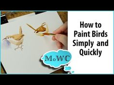How to Paint Birds in Watercolor – Simply, Quickly and Expressively. Watercolor Video, Watercolour Tutorials, Watercolor Techniques, Watercolor And Ink, Watercolour Painting, Painting Techniques, Painting & Drawing, Watercolours, Watercolor Pencils
