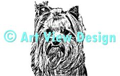 Our Yorkshire Terrier Design || Original and one of a kind || Pattern can be used for everything and every cutting machine || ♡