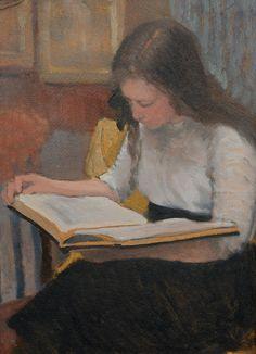 ✉ Biblio Beauties ✉ paintings of women reading letters & books - Armand Rassenfosse   La lecture