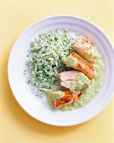 Chicken with Poblano Cream Sauce Use coconut oil instead of canola. Also, swap out the heavy cream with coconut milk for a dairy-free dish.