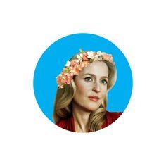 Bedelia DuMaurier Flower Crown Button