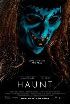 New Poster for Horror-Thriller 'Haunt' - On Halloween, a group of friends encounter an extreme haunted house that promises to feed on their darkest fears. The night turns deadly as they come to the horrifying realization that some nightmares are real. Nicolas Cage, Hindi Movies, Disney Pixar, Haunted Movie, Katie Stevens, Streaming Hd, Movies To Watch Online, Tv Series Online, Group Of Friends